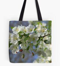 White Spring Blooms 2 Tote Bag