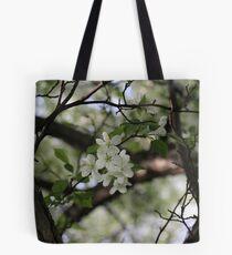 White Spring Blooms Tote Bag