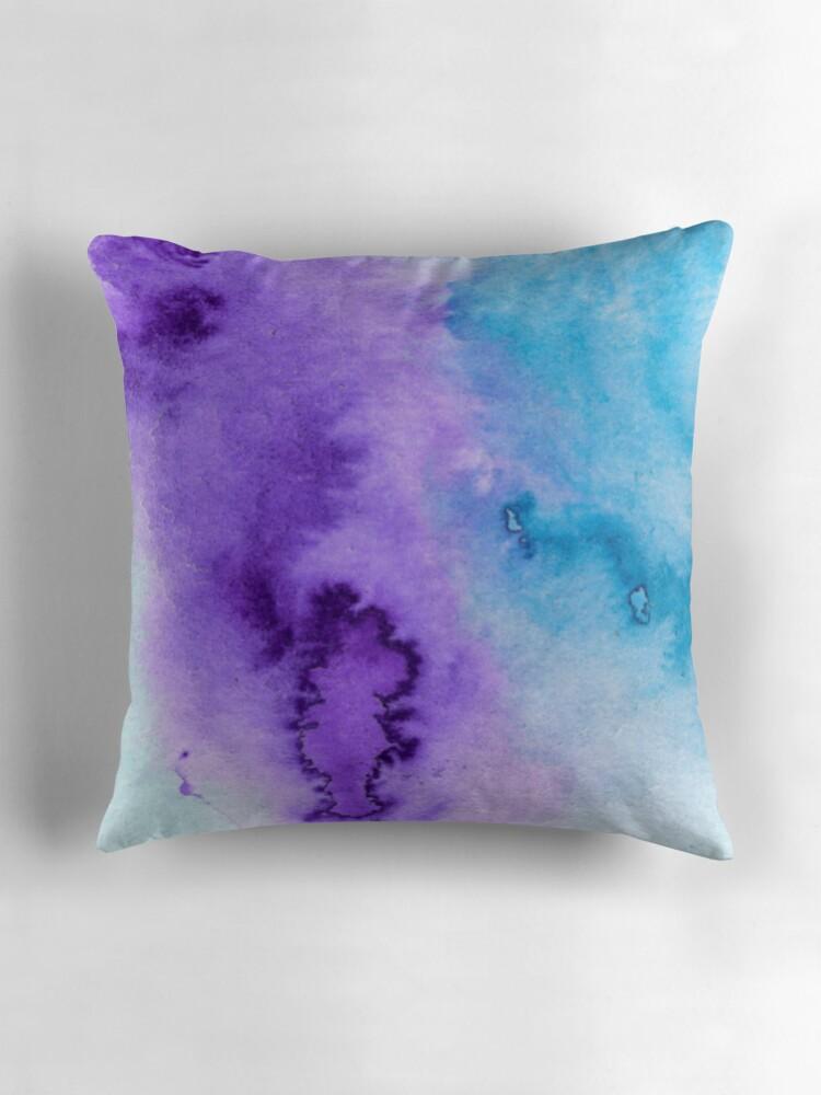 Blue Purple Throw Pillows :
