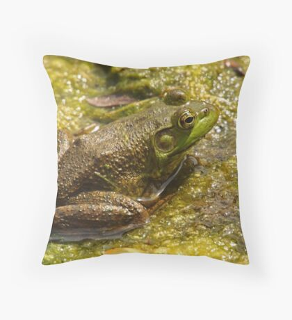Frog March Throw Pillow