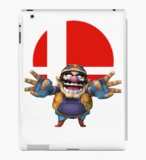 wario t-shirt smash bros brawl  iPad Case/Skin