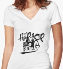 Hip Hop Generation Women's Fitted V-Neck T-Shirt