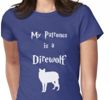 My Patronus is a Direwolf Womens Fitted T-Shirt