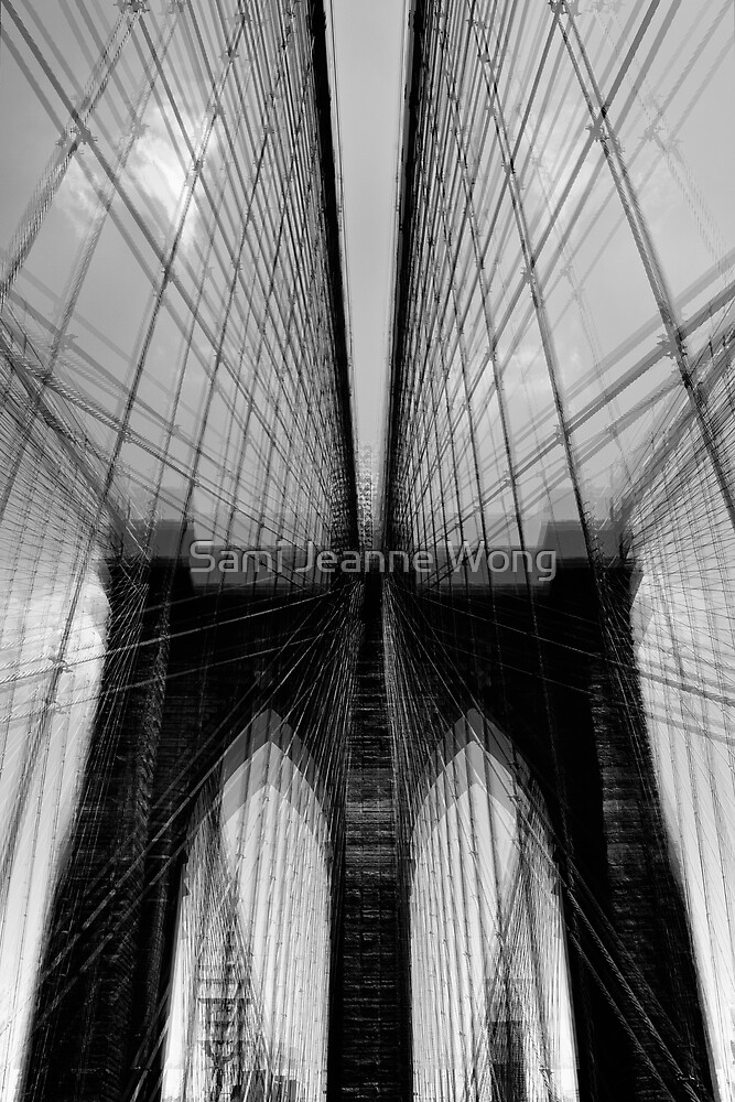 Brooklyn Bridge Wires - Abstract by Sami Jeanne Wong