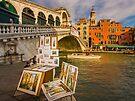 Art Vendor near Ponte di Rialto, Venice, Italy by Daniel H Chui