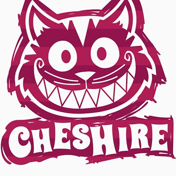 Cheshire Originals - Raspberry Stripe Scribble by CheshireGoMad