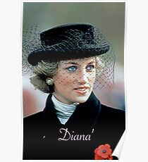 HRH Princess Diana France 1988 Poster