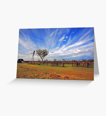 Cattle Yard Greeting Card