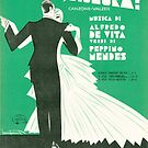 DANZIAMO SIGNORA? (vintage illustration) by ART INSPIRED BY MUSIC