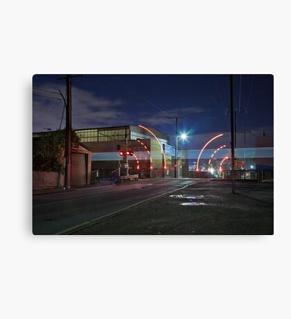 Train Passing (in the night) Canvas Print