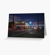 Train Passing (in the night) Greeting Card