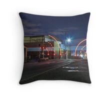 Train Passing (in the night) Throw Pillow