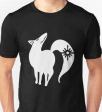 Camiseta ajustada Los siete pecados capitales - El zorro pecado de la codicia (Blanco)