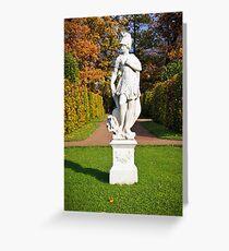 Statue in the park Tsarskoye Selo, Russia  Greeting Card
