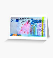 €2000 note  Greeting Card