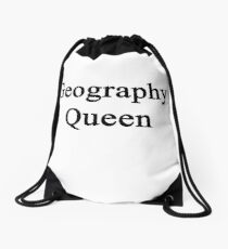 Geography Queen  Drawstring Bag