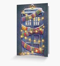 Doctor Who Christmas Tardis  Greeting Card