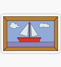 Sail Boat Artwork Sticker