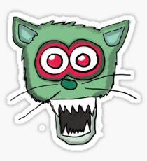Zombie Cat Head  Sticker