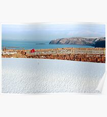 white snow covered golf course Poster