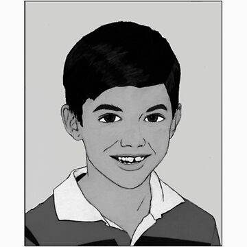 Demon Child  - B&W Graphic by toppohaus