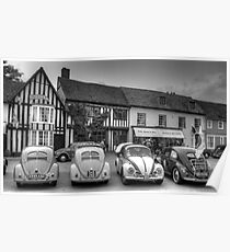 VW Beetles, Lavenham, Suffolk Poster