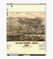 Panoramic Maps Black Hawk Colo 1882 iPad Case/Skin