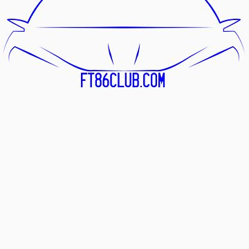 FT86CLUB Decal in BLUE by Snoopyalien24