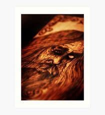 ODIN Wood Burning Art Print