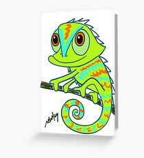 Caper the Chameleon Greeting Card
