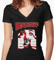 Braindead Women's Fitted V-Neck T-Shirt