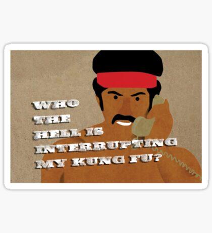 Black Dynamite's Kung-Fu Sticker