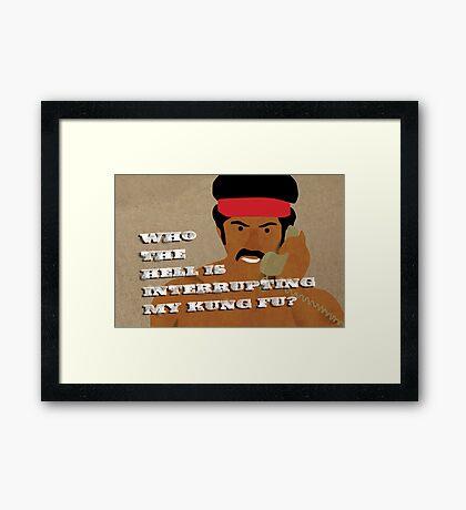 Black Dynamite's Kung-Fu Framed Print