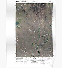 USGS Topo Map Washington State WA Telford 20110401 TM Poster