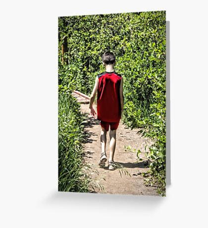 Hiking Alone With Deep Thoughts Greeting Card