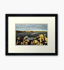 Beachport Rocks Framed Print