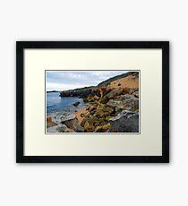 Beachport Limestone Crumble Framed Print
