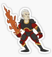 Flame Sword Sticker