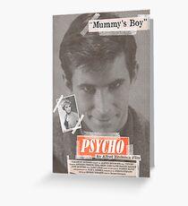 Psycho Tabloid Greeting Card