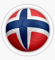 Norway - Norwegian Flag - Football or Soccer 2 Sticker