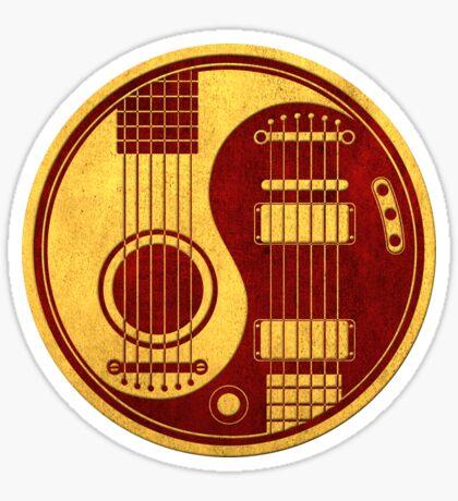 Weinlese rote und gelbe akustische elektrische Gitarren Yin Yang Sticker