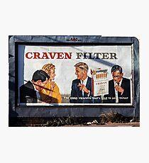 Cigarette ad Carlton 19600400 0000 Photographic Print