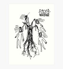 'David Lynch Family Tree' Art Print