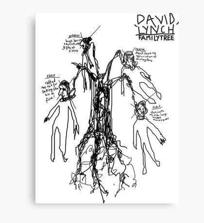 'David Lynch Family Tree' Metal Print