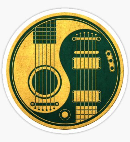 Weinlese-grüne und gelbe akustische elektrische Gitarren Yin Yang Sticker