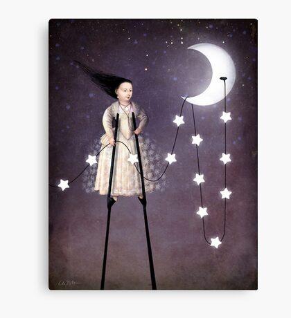 Where the starlight begins Canvas Print