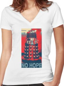 No Hope Dalek Women's Fitted V-Neck T-Shirt