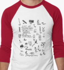'List of Things that hold things Up or Together' Men's Baseball ¾ T-Shirt