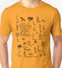 'List of Things that hold things Up or Together' Unisex T-Shirt