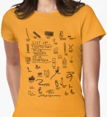 'List of Things that hold things Up or Together' Women's Fitted T-Shirt